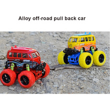 1: 34 Scale Mini Alloy Metal Die Cast Car Baby Toys Kids Pull Back Off-road Speed Car Model Vehicle Gift Toy for Children(China)