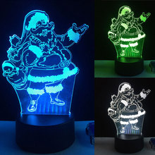Cheerful Creative Night Light Table Lights Desk Lamp Acrylic&ABS DC 5V 3D Xmas Great Ambience Christmas Gift Home Decor Romantic(China)