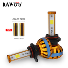 KAWOO 9012 Car Led Head Light Auto Bulb Headlamp 6500K and 3000k DIY Lights Lighting Auto Head Lamp Front Light Car Accessories