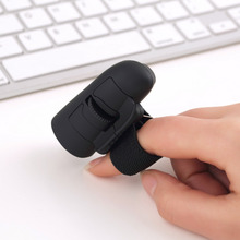 Mini Cute Blue & Black Plug and Play 2.4GHz USB Wireless Finger Rings Optical Mouse 1600DPI For PC Laptop Desktop