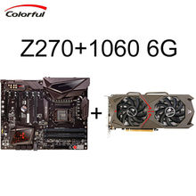 COLORFUL Mining Bitcoin Geforce GTX 1060 Graphics Card 6GD5 GAMING+Motherboard iGame Z270 Ymir X for Intel Z270 LGA1151 Board(China)