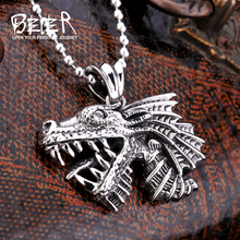 2017 New store Hight quality Wolf pendant necklace cool Animal jewelry wholesale price BP2-009(China)
