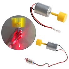 DC Micro Motor Small LED lights Vertical Axis Wind Turbine Generator Blades - L057 New hot