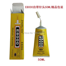 High Quality E8000 Glue 50ml Multipurpose Adhesive Epoxy Resin Diy Jewelry Fix Touch Screen Glue(China)