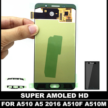 100% Tested AMOLED LCDs For Samsung Galaxy A5 2016 A510 A510F A510M A510FD LCD Display Touch Digitizer Screen Assembly Replace(China)