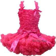 2014 Free Shipping Boutique Pure Color Baby Chiffon Ruffle Dress Set,Chiffon top + Pettiskirt,Girls DressTutu Set(China)