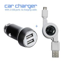 Car Charger Metal Casing Dual USB Ports Universal Charger Game Accessories For All Android Smartphones & Tablets(China)
