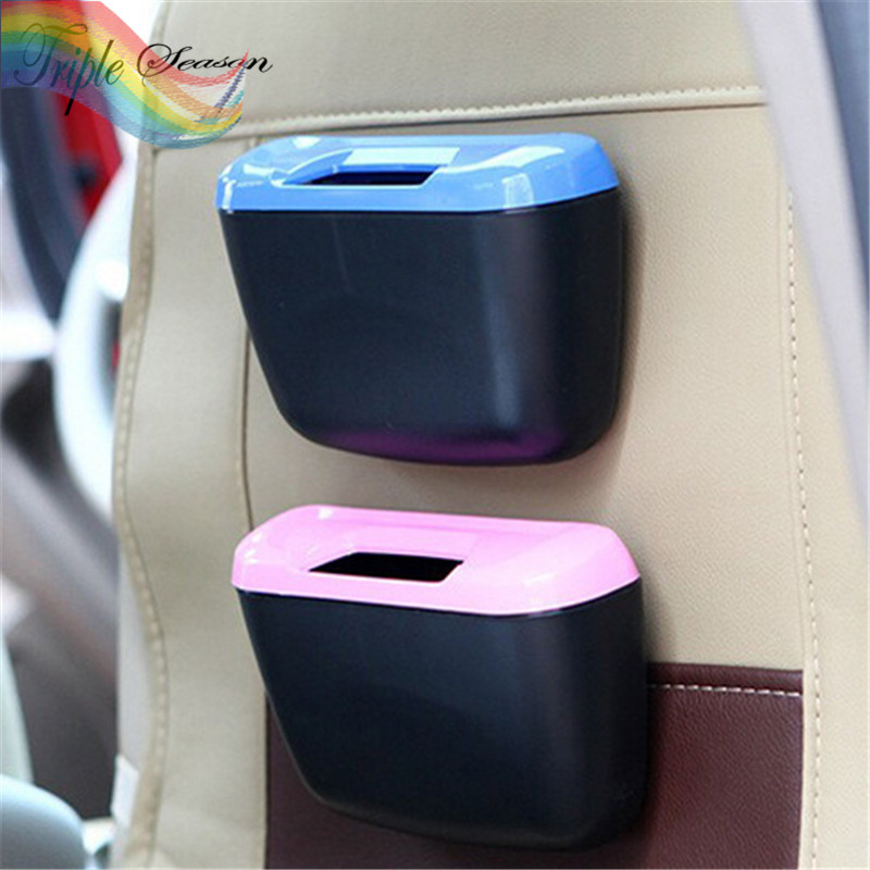 Sale 1 piece Candy Colors Office Home Auto Vehicle Car Mini Trash Rubbish Bin Can Garbage Dust Case Holder TRQ500(China (Mainland))