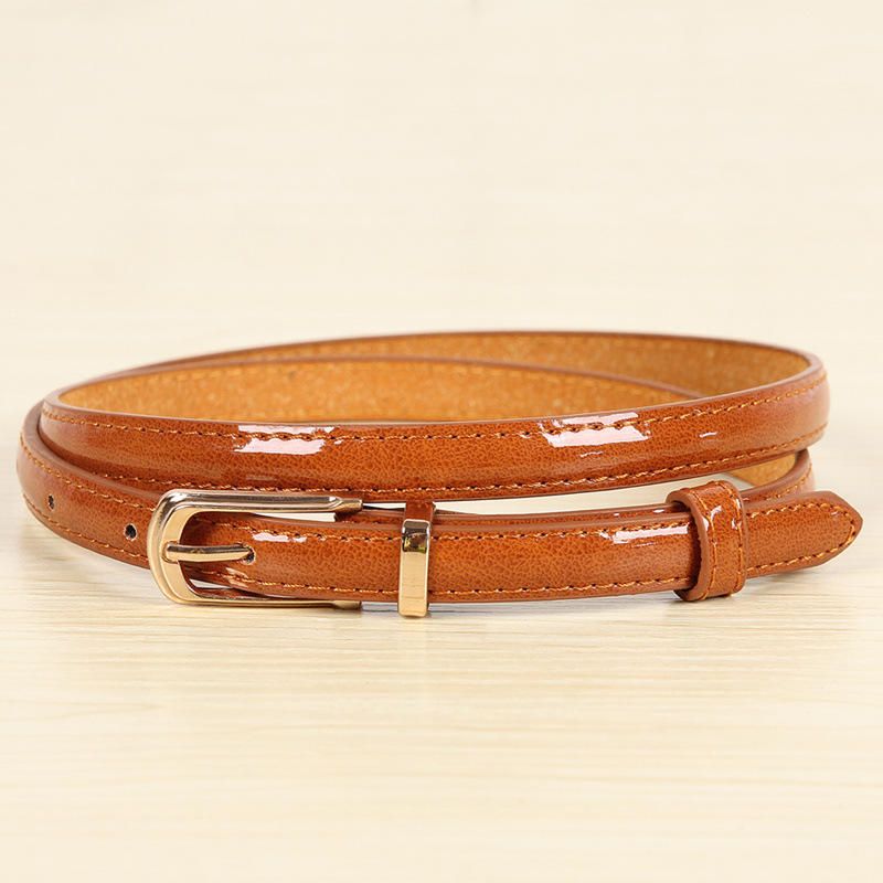 17 New Girls Black White Blue Yellow Brown PU Waist Belt Female Fashion Womens Leather Waistband Belts for Jeans Wholesale 10