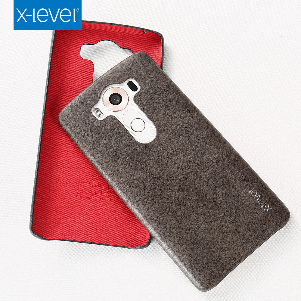 For LG V10 Case,X-Level PU leather For Phone Case V10,Back Cover For LG V10 Case Brown(China (Mainland))