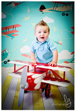 HUAYI Photography Backdrop airplane Children Custom Photo Prop backgrounds D-2731