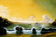 100% Hand Made Landscape Painting for Office Decoration Painting Rio de Janeiro by Martin Johnson Heade High Quality