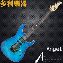 Tom anderson custom guitar Blue flamed maple body Floyd rose guitar Golden hardwares