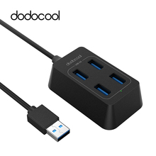 dodocool 5Gbps USB Hub 3.0 High Speed 4 Port USB 3.0 Hub USB Port Portable HUB USB Splitters for Apple Macbook Air Laptop Tablet(China)