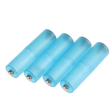 4Pcs/lots AAA to AA Size Cell Battery Converter Adaptor Holder Case Switcher Blue battery box for 3 x AA Battery