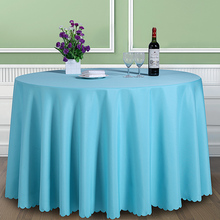 Solid Color 100% Polyester Round Table Cover  Fabric Square Dining Table Cloth Tablecloth Hotel Office Wedding Booth setting