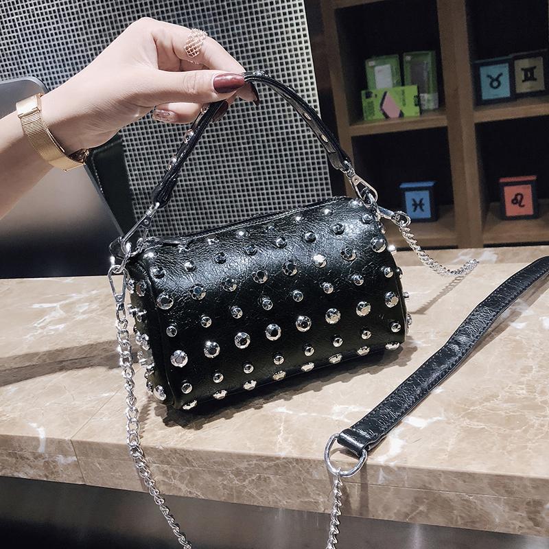 Women's Handbags Boston Bags Ladies Tassel Button Messenger Bags Leather Shoulder Bags Designer Bucket Bag Clutch Metal Pointed 46 Online shopping Bangladesh