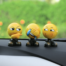 Creative Emoji Expression Dolls Ornaments Cute Shaking Head Emoji Figure Model Doll Automobile Decoration Ornaments Car Styling(China)