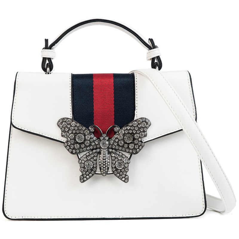 778d9a6da3c6 Mixtx Для женщин Bling Алмазы Бабочка Сумочка Леди тенденция сумка  Классический панелями Tote женский роскошный сумка