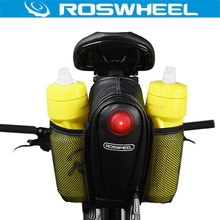 Buy ROSWHEEL Bike Tail Bag Seatpost Pouch Two Water Bottle Bicycle Saddle Storage Cycling MTB Rear Pannier Bags w/LED Tail Light for $9.04 in AliExpress store