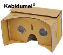 "kebidumei DIY Magnet Google Cardboard Virtual Reality VR Mobile Phone 3D Viewing Glasses For 5.0"" Screen Google VR 3D Glasses(China)"