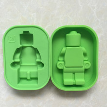100% Foodgrade Silicone Lego Mold Super Big Robot Lego Cake Mold Ice Mold Baking Pan DIY Fondant Cake Decorating Tools D897