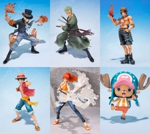 One Piece 5th Anniversary Edition Luffy Chopper Zoro Sabo Nami Ace 9~18cm Model Toys Anime PVC Action Figure