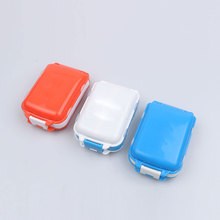 Square Pill Cases Daily Drug Splitters Medicine Tablet Makeup Storage Container Case 1PC