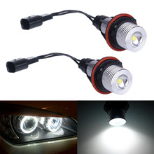 2Pcs/Pair For BMW E39 E60 Angel Eyes 6000k White 3W 5W 10W Angel Eyes For BMW E39 E60 E53 E61 E63 E64 E65 E66 X5(China)