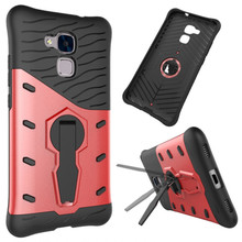 TopArmor For Huawei Honor 5C/Honor 7lite Phone Case Shock proof 360 rotating swivel bracketshell Netted heat Armor Phone Cover(China)