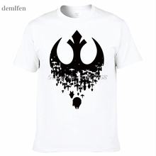 Summer Men T Shirts New Star Wars Fractured Rebellion Men's T-Shirt Fashion Print T-Shirts Short Sleeve O Neck Cotton Tees Tops(China)