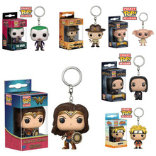 Funko Pop Wonder Woman Keychain Marvel Action Figure Funkopop Joker Suicide Squad Key Chain Ring Funko pop Harry Potter Dobby