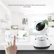 Wireless IP Camera WIFI 720P CCTV Home Security Cam Micro SD Slot Support Microphone & P2P Free APP ABS Plastic(China)