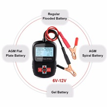 Car battery Detector Test Analyzer Tool AGM BT100 12V Diagnostic Tool For regular flooded, AGM flat plate, AGM spiral and gel(China)