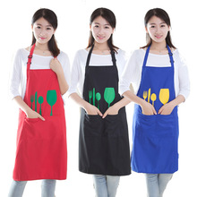 Fashion Thicken Polyester Apron Household Kitchen Cleaning Aprons
