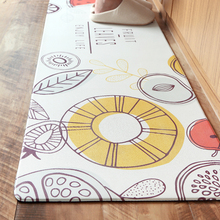 PVC Leather Oil Proof and Waterproof Mat Relieve Foot Fatigue Non-Slip Carpet Watermelon/Leaf Pattern Rug Runner Kitchen(China)