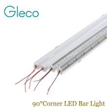 5PCS DC12V Wall corner LED Bar Light 5730 36 LED 50CM V shape Aluminum Profile 5730 5630 LED Hard Rigid Strip Light Cabinet Lamp(China)