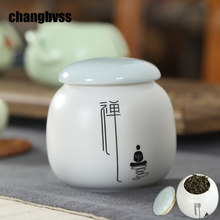 Chinese Style Tea Caddy Ceramic Sealed Jars For Spice Sugar Bowl Tea Canister Food Container Kitchen Storage Bottle home decor