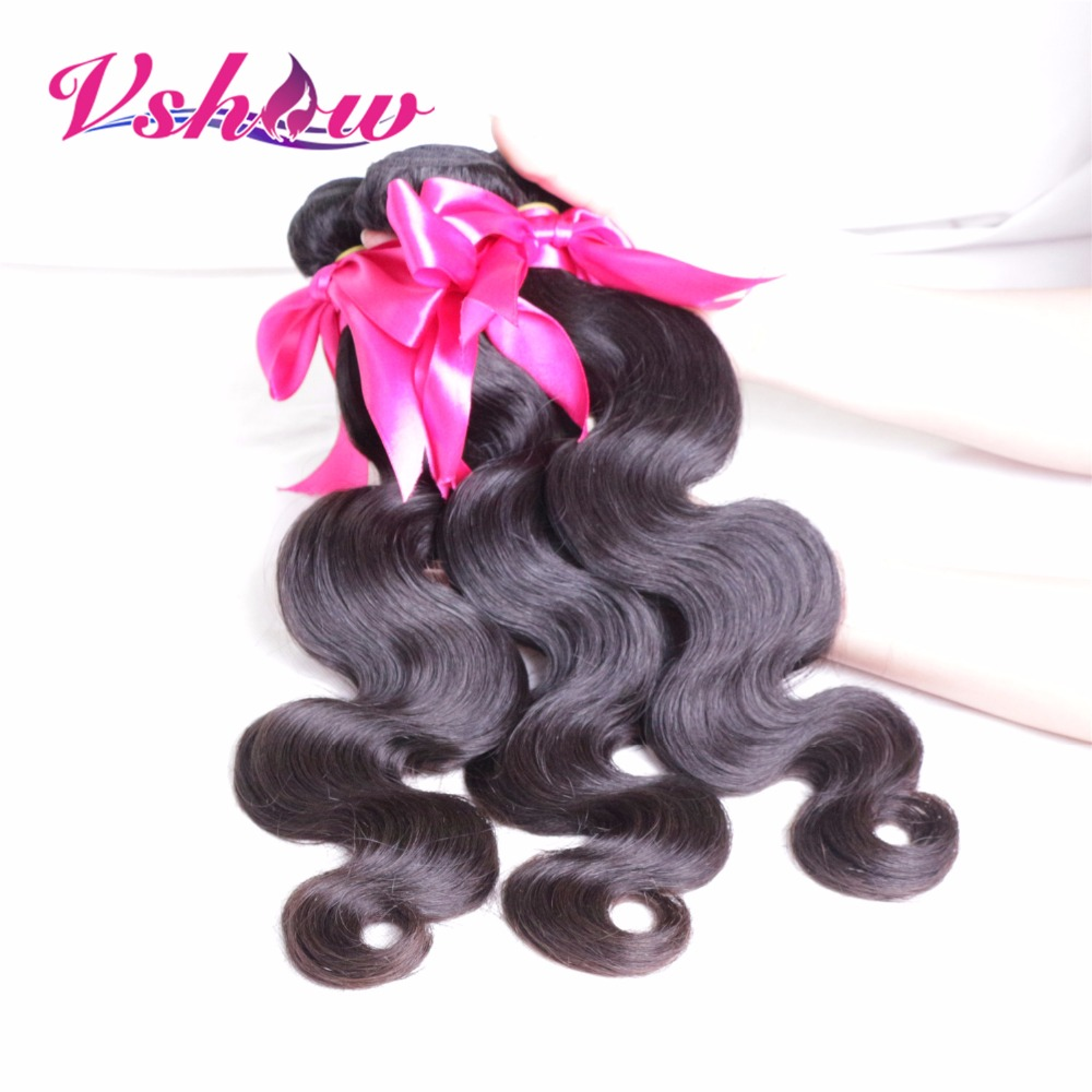 Mongolian Virgin Hair Body Wave 100% Mongolian Body Wave Natural Black Color V SHOW Hair Product Unprocessed Remy Hair Top Grade<br><br>Aliexpress