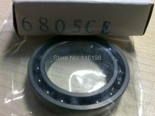 6805 61805 full SI3N4 silicon nitride ceramic deep groove ball bearing 25x37x7mm<br>