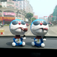[LORDUPHOLD] Car Dashboard Ornament Decoration Very Cute Dolls Shake Head Cigar Cat Toys Smoke Styling Creative Birthday Gift(China)