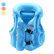 Babies Inflatable Life Vest Water Fun Sports Swimming Vest Air Floating Island Buoy Raft Outdoor Swimwear Kids Cute Life Jackets