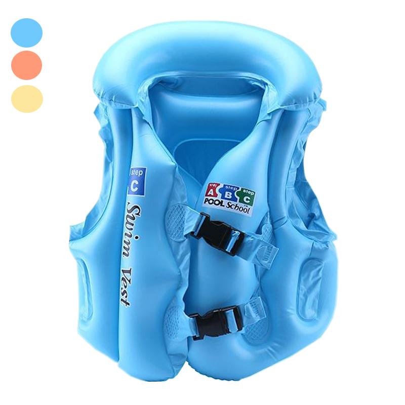 Babies Inflatable Life Vest Water Fun Sports Swimming Vest Air Floating Island Buoy Raft Outdoor Swimwear Kids Cute Life Jackets(China)