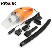 KROAK Mini 150W 12V Car Handheld Cyclonic Auto Car Vehicle Vacuum Cleaner Rechargeable Wet And Dry Duster