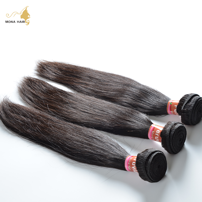 FREE SHIPPING Peruvian Virgin Hair Straight 8A Unprocessed Virgin Hair One Bundle,100% Ali Queen Hair Peruvian Straight Hair<br><br>Aliexpress
