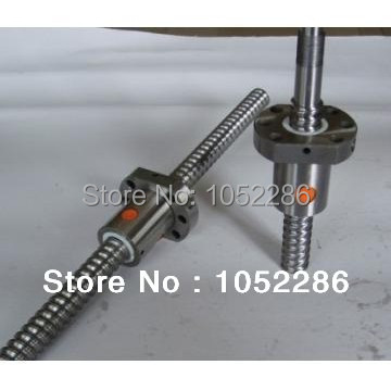 1pcs RM1204 -500mm screw shaft guide+1pcs SFU1204 single nut with end machined  for cnc<br>