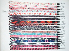 Girls Daisy flowers ID Badge Lanyard for Keys bowknot Cherry Flower Painting Phone Neck Straps Mix color