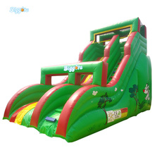 Outside Cartoon Jungle Jumping Slide Inflatable Games For Kids