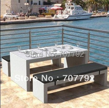 All Weather Outdoor wicker furniture Seaside bench set