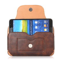 "Luxury Magnetic Leather Horizontal Case Shell Belt Pouch With Card Slots Bags For samsung galaxy a5 2016 s7 edge j7 5.5"" Below"